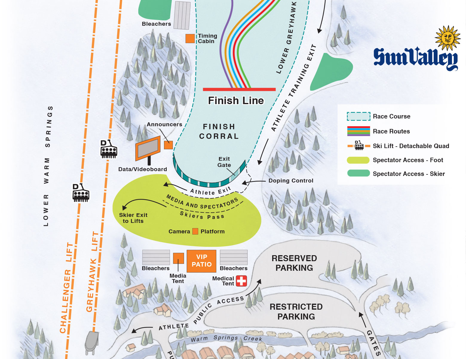 US Alpine Finish Area Map