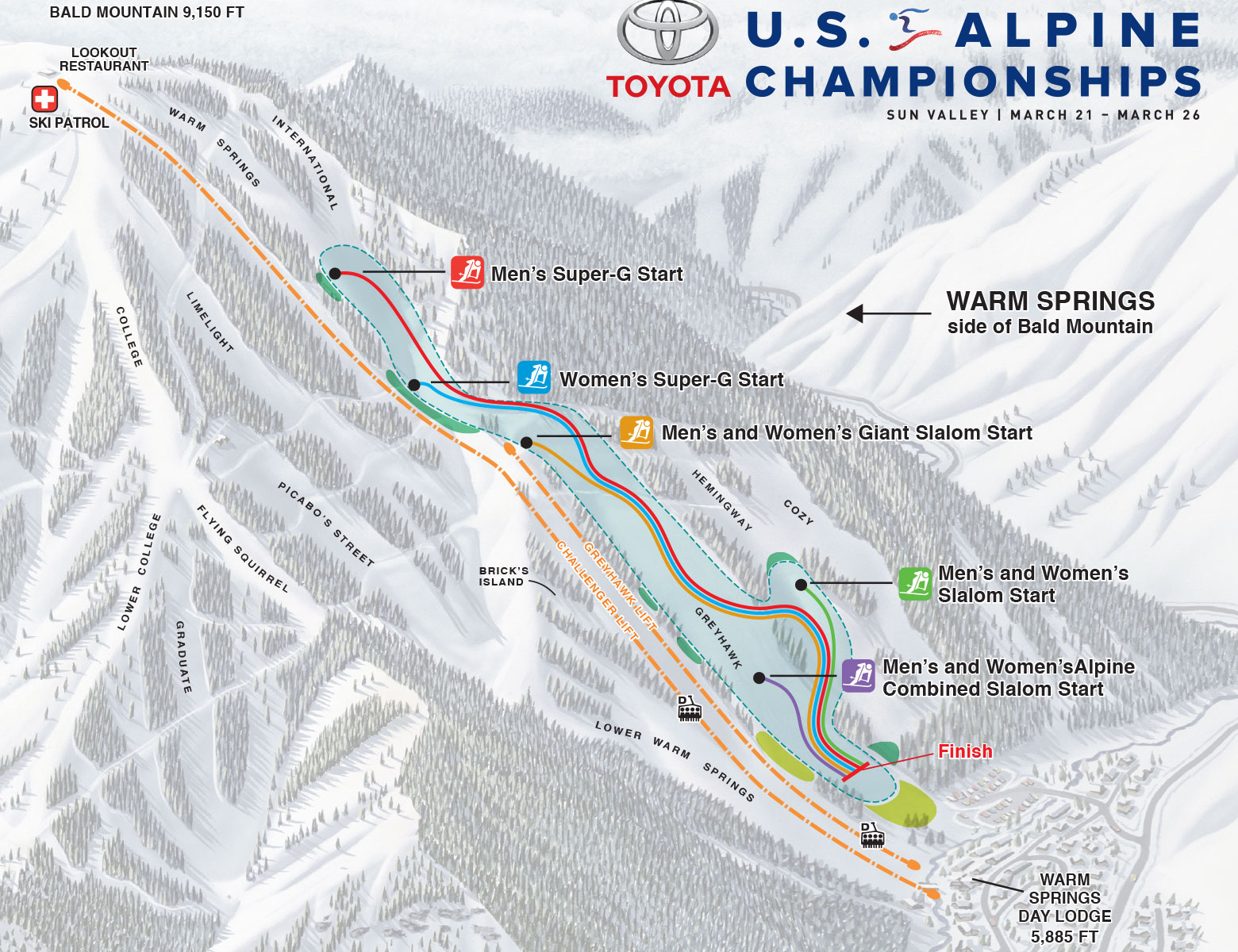 US Alpine Course Map