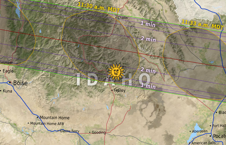 2017 Eclipse Map Partial.Eclipse 2017 Sun Valley